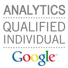 Sello de cualificación de analítica web para posicionamiento web SEO con Google Analytics